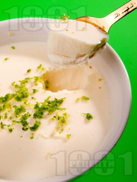 Желиран десерт крем ванилия с прясно мляко и сметана (без яйца и без брашно) - снимка на рецептата